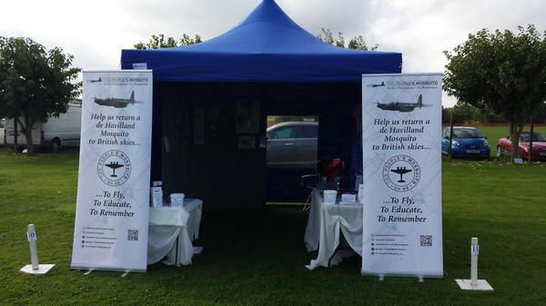 All setup at East Kirkby @PeoplesMosquito http://t.co/YR9zdl0YJO