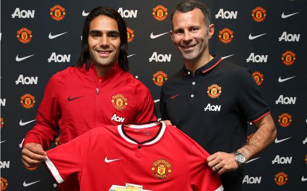 Radamel Falcao ya luce los colores del Manchester United