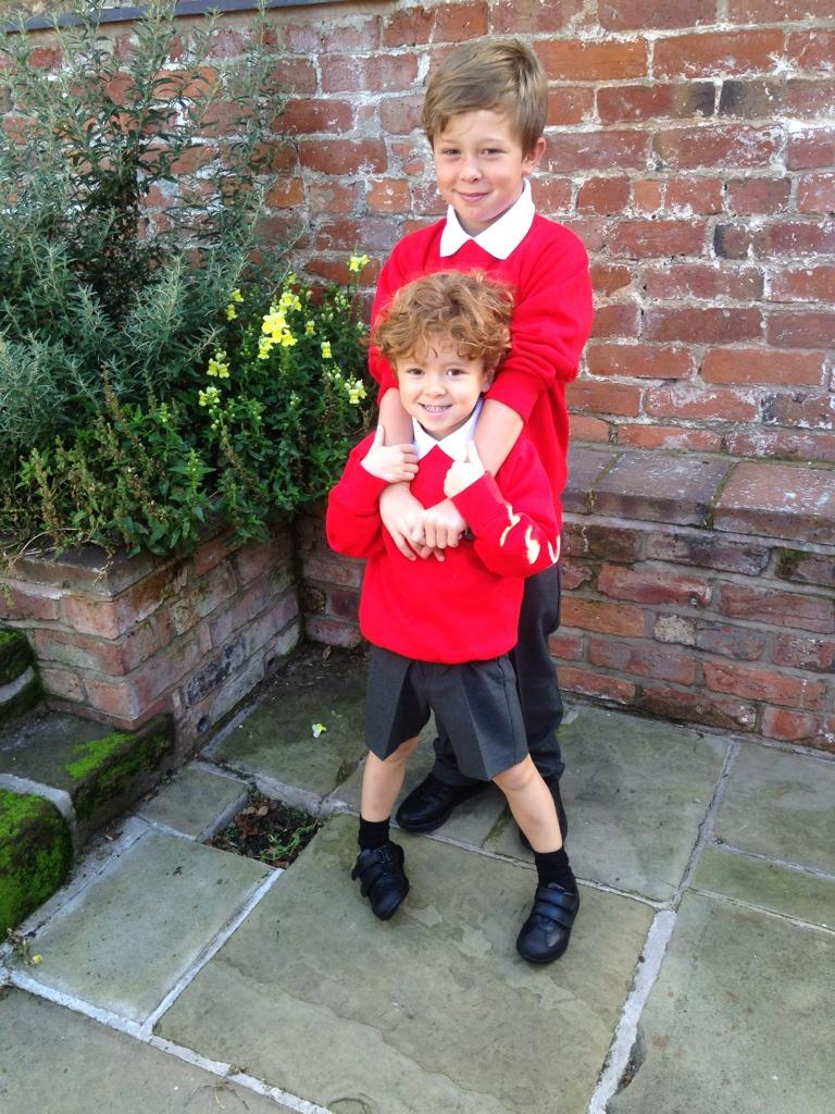 And they're off! Only cried twice up to now, think I'm winning;) #firstdayofschool x http://t.co/gTpkQp60AH
