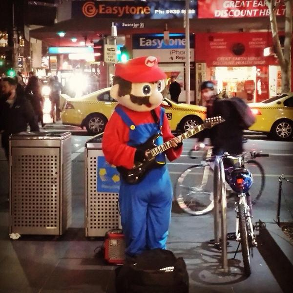 I'm trying to make contact with Melbourne's Super Mario busker . Does anyone know who he/she is? RT pls and thanks! http://t.co/mSAPB4LTER