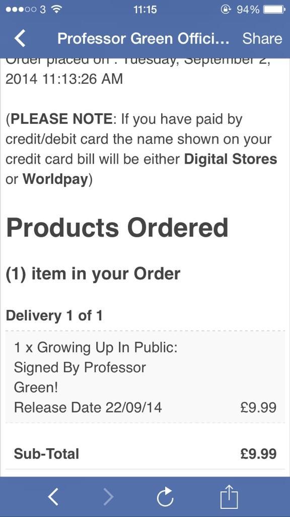 RT @JamesH_1: Just ordered my @professorgreen signed cd :), @_FINE_LINE_ http://t.co/pj4m8dZBzG