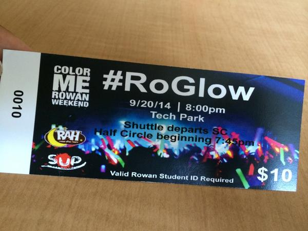 got this and got to class with 10 minutes to spare lol #RoGlow #rowan18 http://t.co/TD2QwKXacj