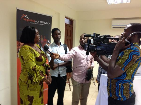 Mariama Awumbila @cms_ug is interviewed about #cmswanjom workshop on GTV @ChunLisa + TV Africa by @lampeekeey http://t.co/be6ZVOwvwj
