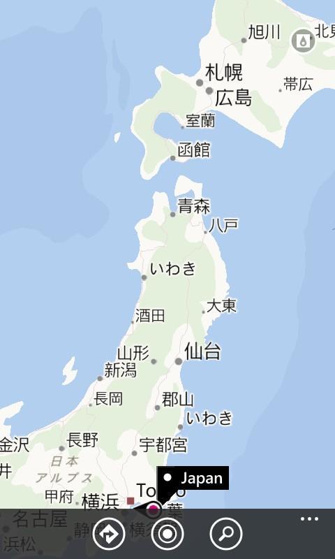 Nokiaマップのひどさ。札幌の近くに広島があったり、秋田にいわきがあったり。。 http://t.co/6roo2KbCfw