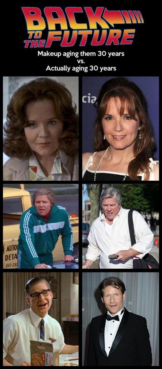 Regreso al futuro: Hace 30 años los maquillaron así para aparentar 30 años más... http://t.co/tUOhjx1Nif