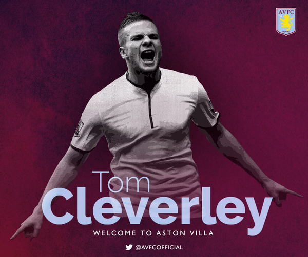 Villa have signed midfielder Tom Cleverley from @ManUtd on a season-long loan. More to follow. #WelcomeTom #AVFC http://t.co/unqKxjcIb7