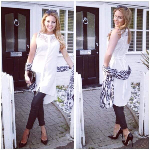 #LimitedStock @BellaSorella251  Chiffon Tunic with Lace Hi Low Skirt Hem Was £49 Now £40 Buy> http://t.co/oNAbE1oo0v http://t.co/Pg41Imh39y