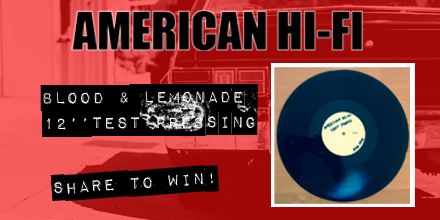 Want to win a VERY RARE test pressing of 'Blood & Lemonade'? Simply RETWEET & we will be choosing a winner next week! http://t.co/UMIJAjE8Is