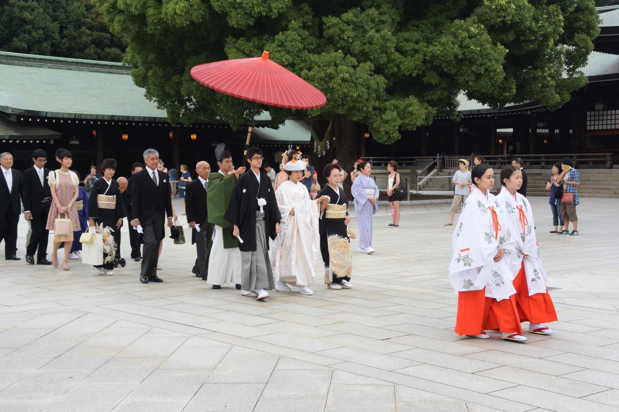 Boda tradicional japonesa en el Templo Meiji