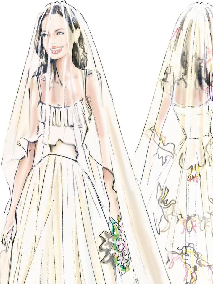 Versace releases the stunning sketches behind Angelina Jolie's wedding dress--see them here! http://t.co/E709i4cT0p http://t.co/31s8gqBz9V