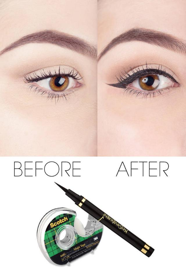 The insanely easy Scotch-tape trick for perfect liquid eyeliner: http://t.co/rxQdwjf3Iy http://t.co/4NLMUrlBJv