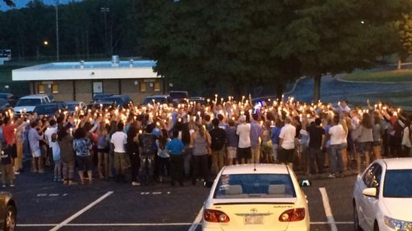Strong support for classmates Jay Robertson and David Engelmann at Hickory High School. #RIPJake http://t.co/ST8XbjTOEP