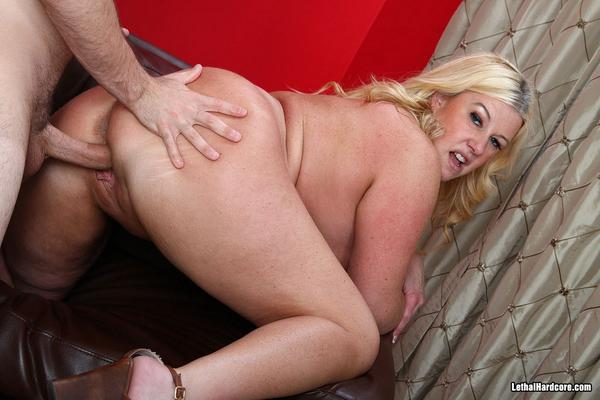 Chubby Blonde Anal Creampie
