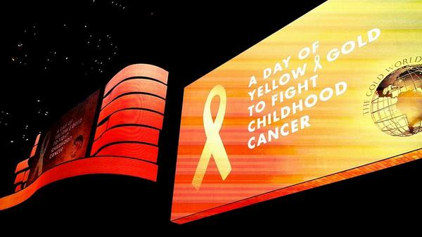 #Awareness -> #Funding -> #Research ->#Cures #childhoodcancer #CCAM @TimesSquareNYC #GoGold #StepUp http://t.co/oJVZyIYwNv
