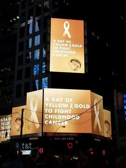 It's is heartening to our #childhoodcancer community to see @TimesSquareNYC #StepUp & #GoGold! http://t.co/ych7l1zspU