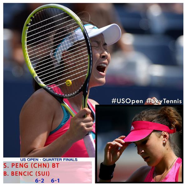 Peng reaches 1st career major semifinal as 17yearold bencic bows