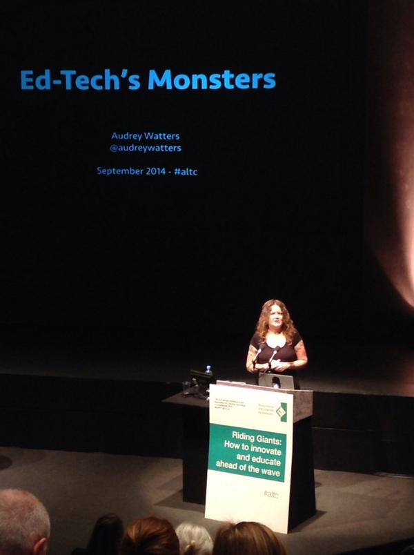 @audreywatters about to begin keynote #altc http://t.co/wYq48d62iE