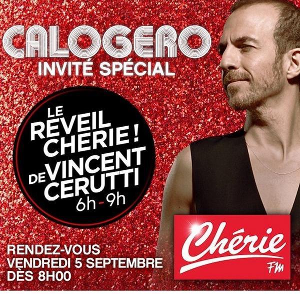 """""""Le réveil chérie de Vincent Cerruti"""" sur Chérie FM 05/09/2014 BwmVL5JIUAACtyW"""