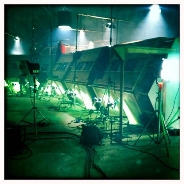 In case you were wondering this is what the outside of the inside of the Tardis looks like. http://t.co/kxwhOk21wA