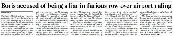 Good to see Boris being almost certainly accurately accused of being a liar on the Times front page (via @BorisWatch) http://t.co/n2lx9XOOzI