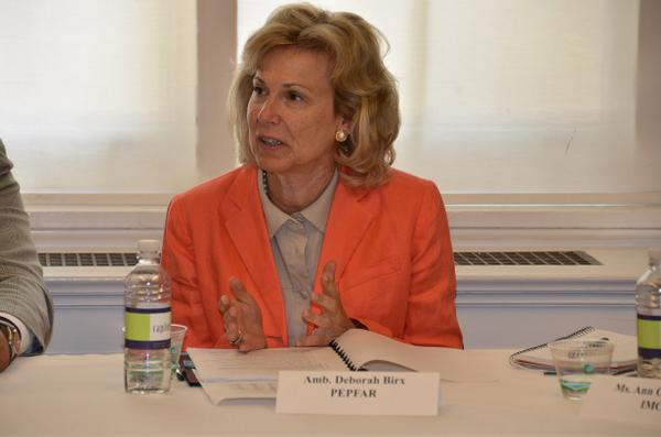 PEPFAR's #AmbBirx: Largest workforce on the globe will be in #Africa, and we want this to be a healthy workforce. http://t.co/ZoTS5rUXjq