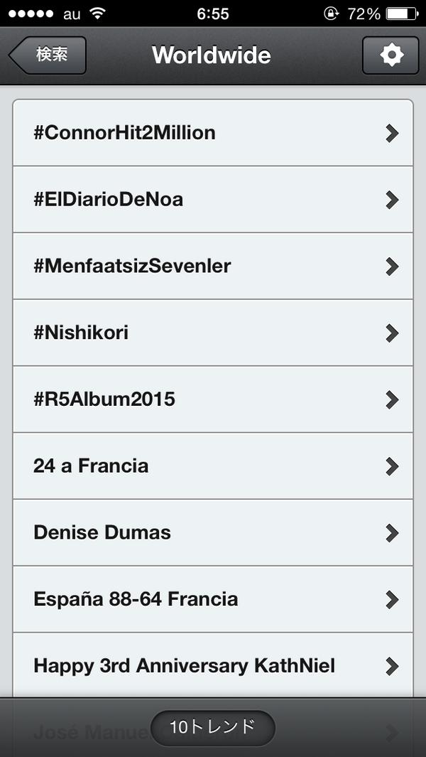 アメリカどころか世界のトレンド入りしとった #usopen #Nishikori http://t.co/HL2aBJavxh