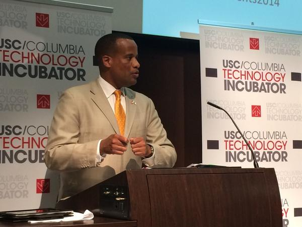 EDA's Jay Williams at USC/Columbia Technology Incubator announcement