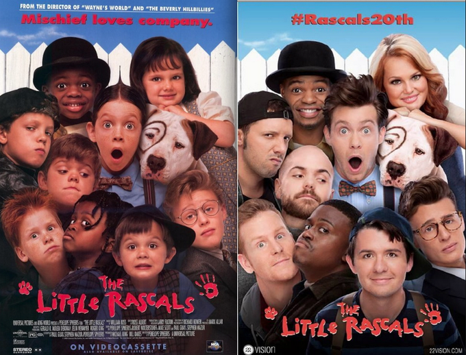 """""""The Little Rascals"""" recreated their movie poster 20 years later http://t.co/2AwPVQcIxK http://t.co/4CkaZtyzoy"""