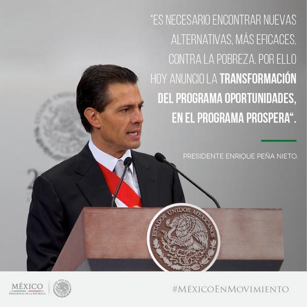 El Programa Oportunidades se transformará en el Programa #PROSPERA. http://t.co/OYToxASX31  http://t.co/28ukVT4WVu