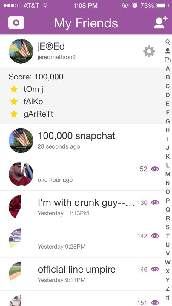 How to see friends score on snapchat