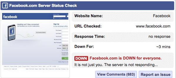 It's not just you. #Facebook #facebookdown http://t.co/Go2t3zM8Yn