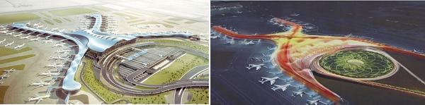 Muy lindo el proyecto de @FosterPartners para el nuevo #AeropuertoMex Lástima que sea tan parecido al de Abu Dhabi http://t.co/gebrCS5mTM