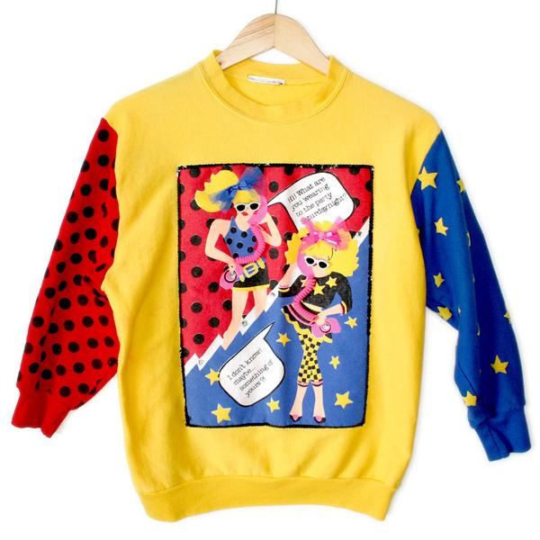 Totally #80s http://t.co/CVYjBGZW2R #vintage #tacky #uglysweater #fashion #popart