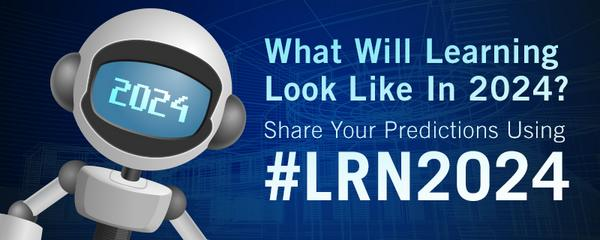 Let's hear those ideas! What do YOU think learning will look like in the year 2024? Share using #LRN2024! #DevLearn http://t.co/KoRBWrIAVS