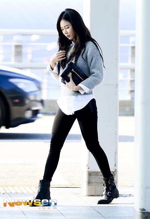 Event Hyuna Airport Fashion Celebrity Photos Onehallyu
