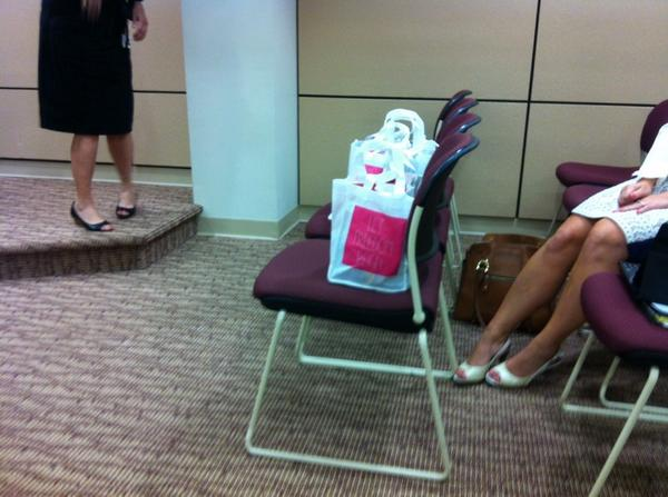 "The Visitors Board brought bags of ""swag"" for council members. http://t.co/PxaiUjguU2"
