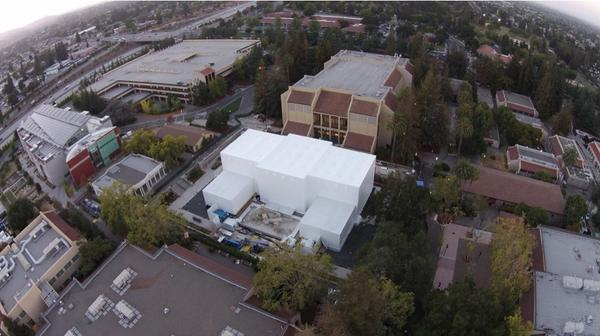 Got a drone photo of Apple's building for next week's event at the Flint Center. @9to5mac http://t.co/ycIKiC4v9U