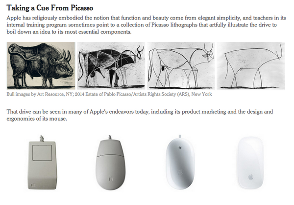 Simplifying the Bull: How Picasso Helps to Teach Apple's Style http://t.co/f6WJcFXr2J http://t.co/XMi7Q6SPcX