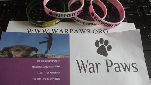 Happy post day @WarPawsIraq #warpaws
