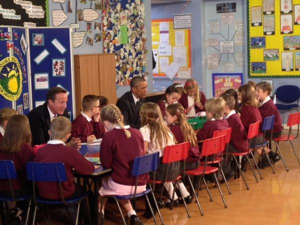 Not your average first week back; Mount Pleasant Primary welcomes two new students to class.... #NATOSummitUK http://t.co/SGfleIQeCb
