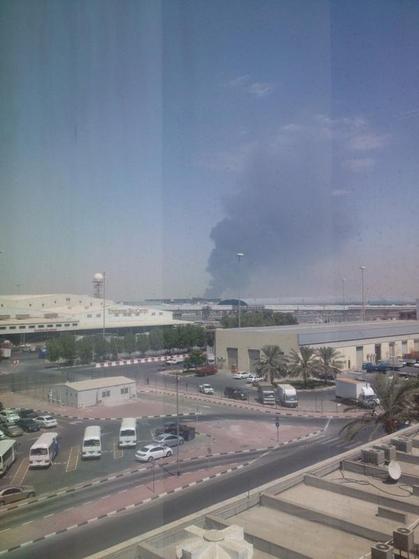 "Bar�aBoy on Twitter: ""Huge fire/smoke/explosion? Near qusais area ..."