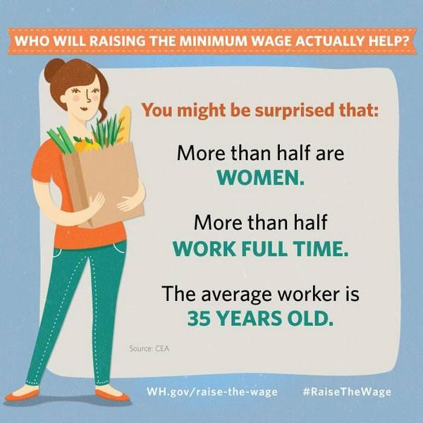 When #WomenSucceed, America succeeds. 60% of people who would benefit from raising the wage are women. http://t.co/NcjI27wTtX