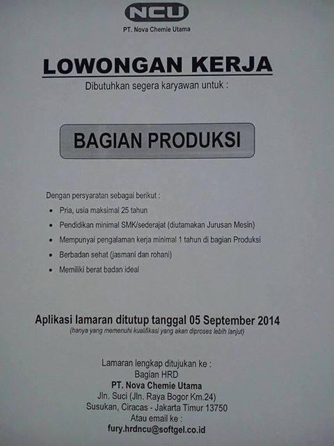 Lowongan Kerja Jakarta Timur