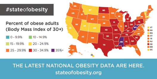 The latest data are in. Do you know the #StateofObesity where you live? http://t.co/EWs8ReGtz5 http://t.co/TSExC0gwPN