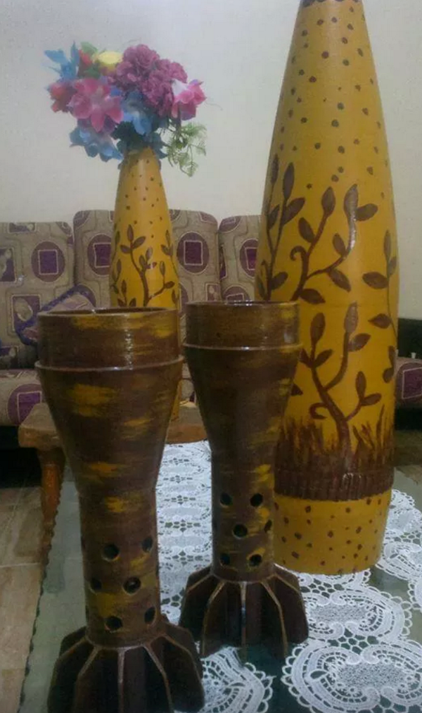 When life gives you lemon make lemonade, and when #Israel gives you bombs make vases. #Gaza http://t.co/k7TrlarKY8