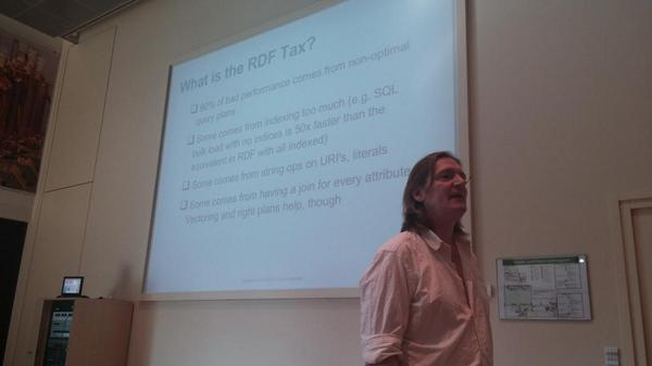 Orri Erling: 90% of RDF performance problems are due to non-optimal query plans #semantics2014 http://t.co/BvbsBrKDLJ