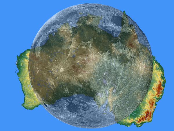 Image result for Australia is wider than the moon.