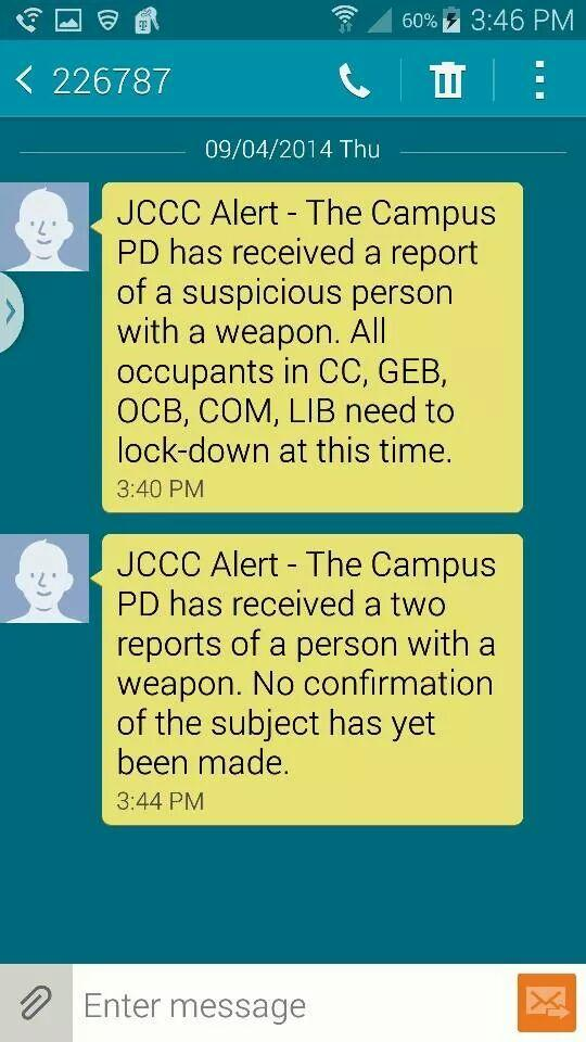 Breaking News KC!!! This is happening on the campus of JCC please RT & be safe!! http://t.co/64JvwBIqKk