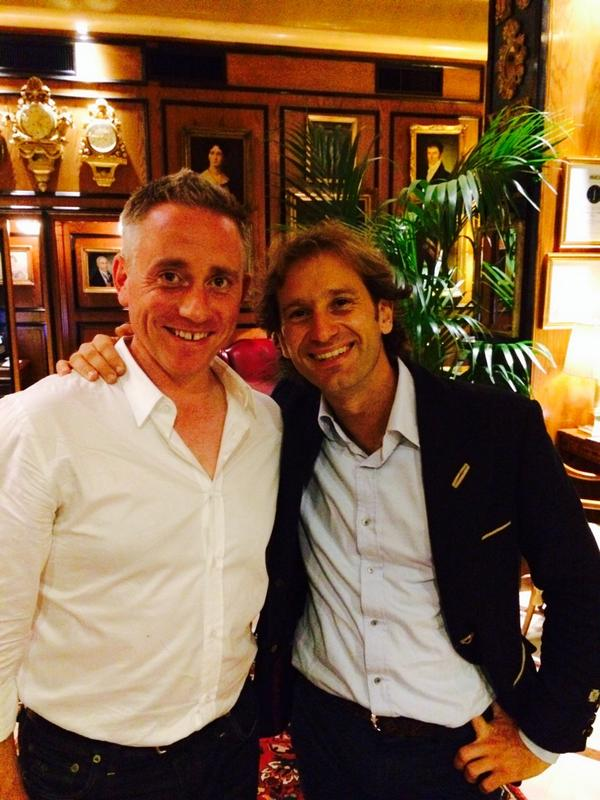 Just bumped into Jarno!!!! Made my night seeing how happy Mr Trulli is. Vs bene Jarno! http://t.co/FBcfCwcJYL