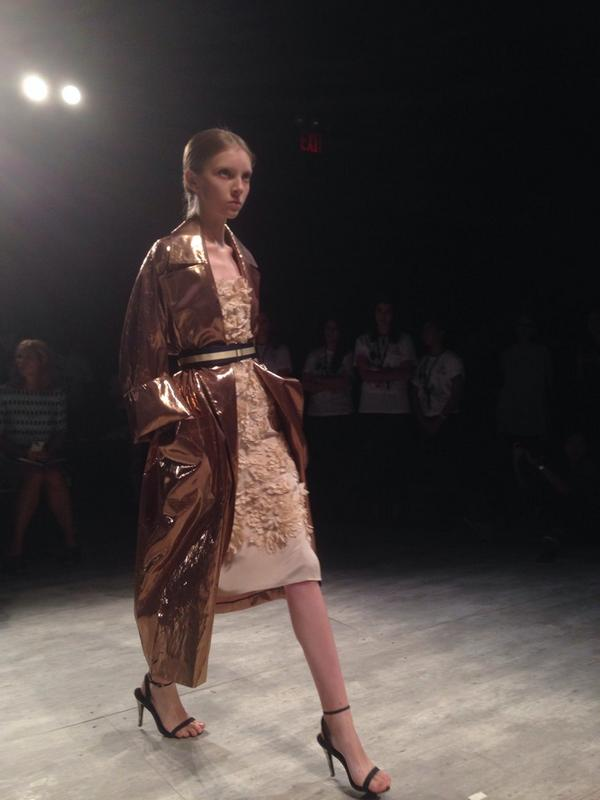 Beautiful silhouette at @TOMENYC #nyfw #ss15 http://t.co/fh5xUGtPGH